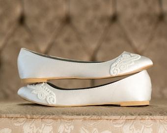 Something Blue Wedding Ballet Shoes Teal Flats Bridal Shoes   Etsy