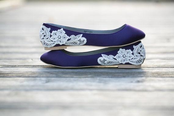 Purple FlatsPurple Wedding Shoes/Purple Wedding FlatsFlat | Etsy