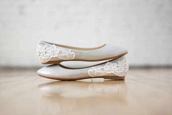 Silberne Hochzeit Wohnungen Hochzeitsschuhe Ballerinas Etsy