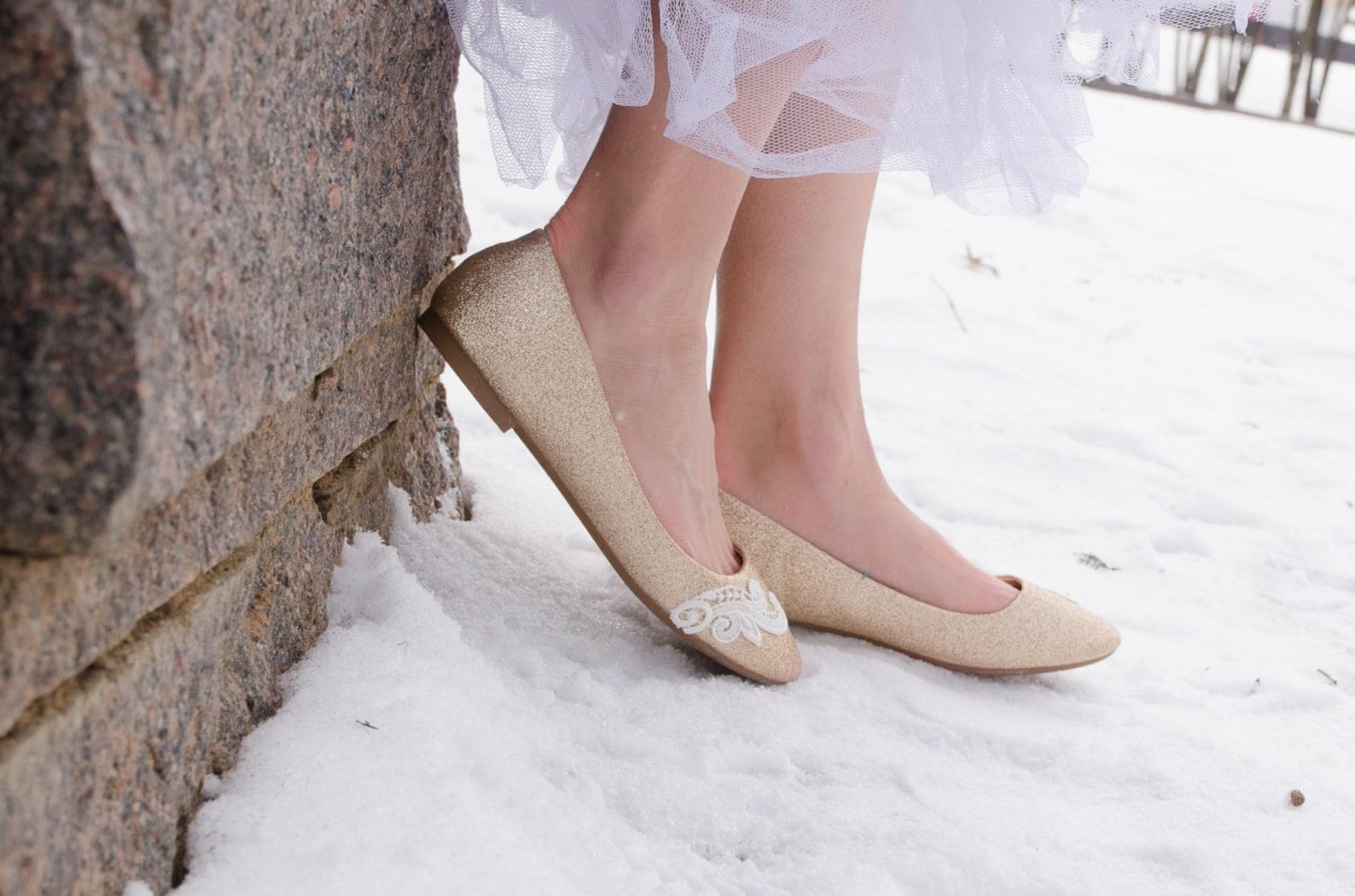 gold wedding flats,rose gold flats,wedding shoes,gold ballet flats,sparkle,bridesmaid,bridal shoes,gold bridal flats, shoes with