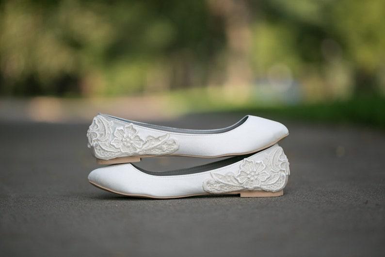 7df10ebb04fd Wedding Shoes Ivory Wedding Flats Wedding Ballet Flats