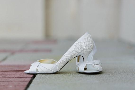 Ivory Wedding Shoes Low Heel | Ivory Wedding Shoes Ivory Bridal Shoes Ivory Etsy