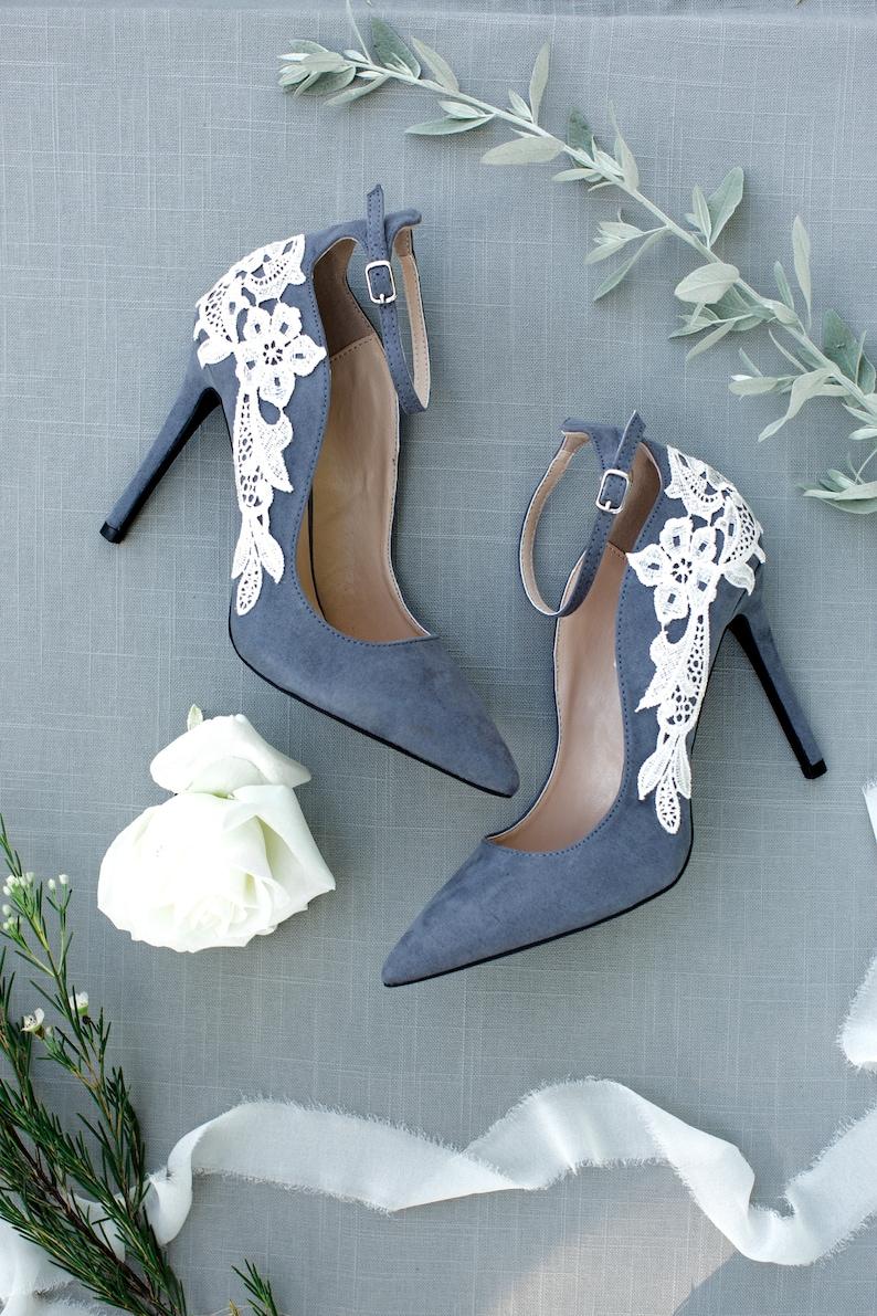 b37e9e0b308 Grey Bridal ShoesBridal HeelsWedding ShoesHigh