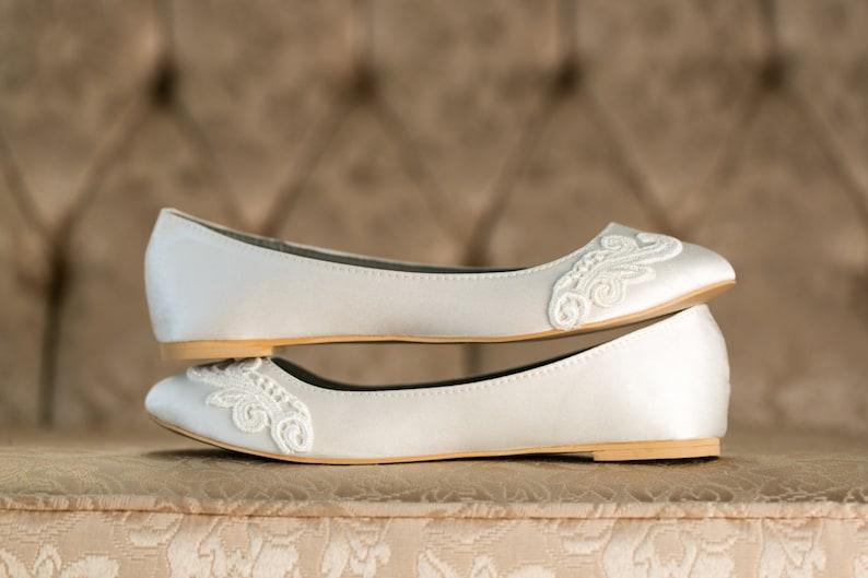 c3ae0cd74a1f Ivory Wedding ShoesWedding Ballet FlatsIvory FlatsBridal