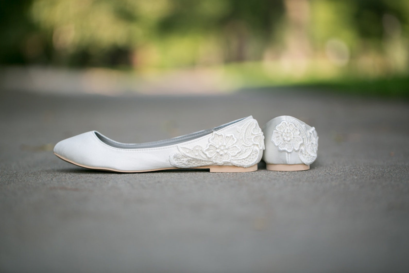 wedding shoes - ivory wedding flats, wedding ballet flats, satin flats, wedding shoe, ivory flats, low wedding bridal shoes with