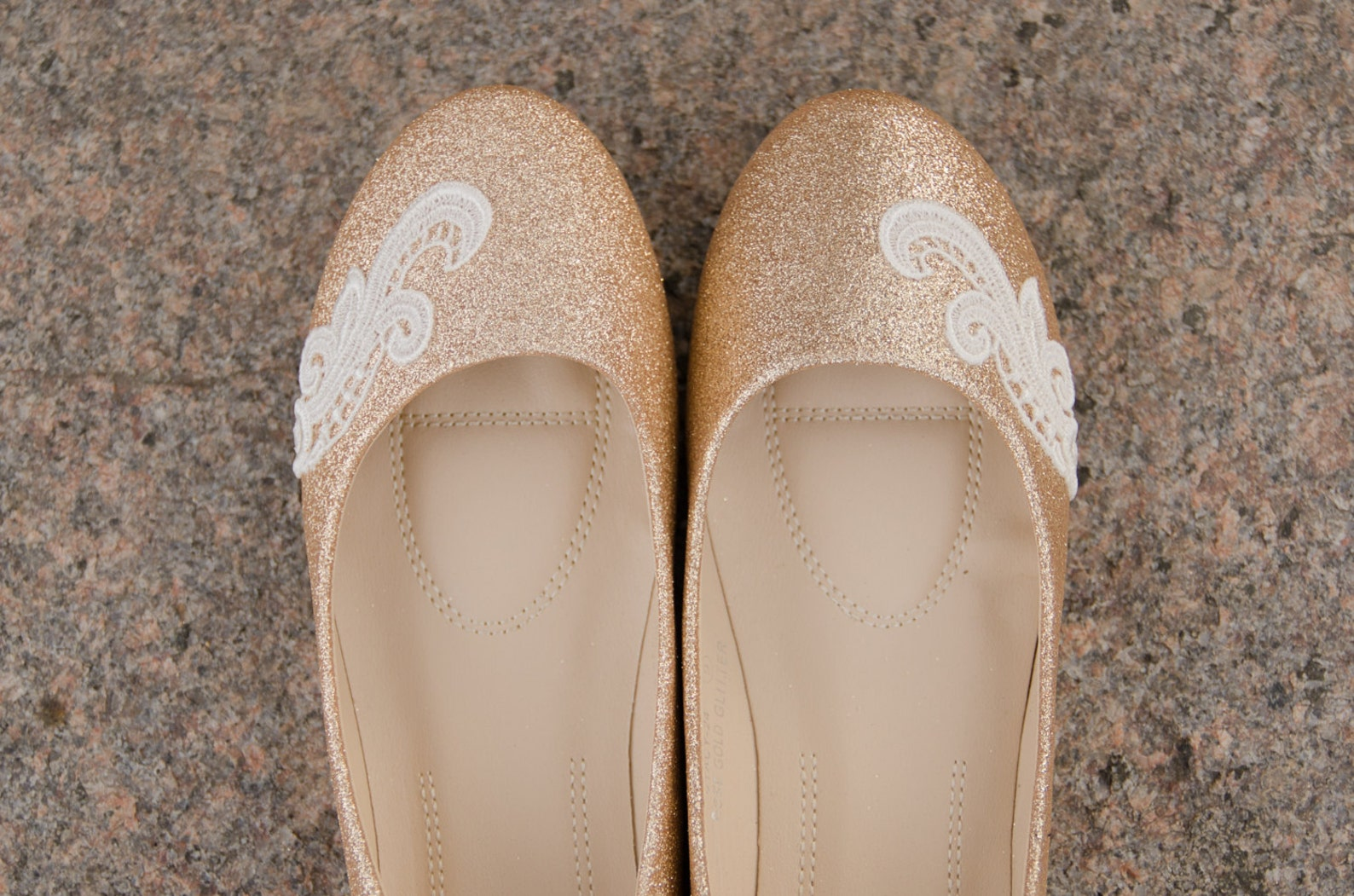 gold wedding flats,rose gold flats,wedding shoes,gold ballet flats,sparkle,bridesmaid,bridal shoes,gold bridal flats, shoes with