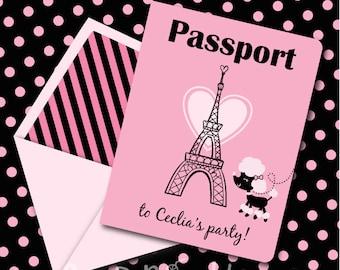 Passport invitation etsy instant download pink parisian poodle birthday passport printable invitation you edit yourself in adobe reader solutioingenieria Choice Image