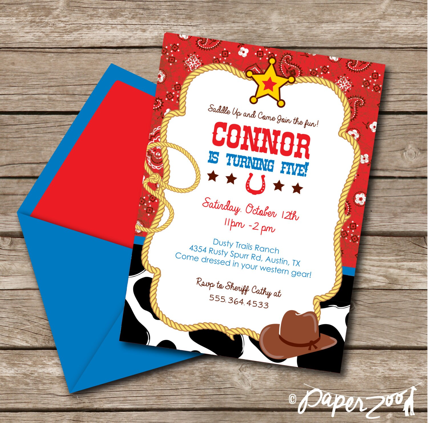 INSTANT DOWNLOAD Cowboy Rodeo Western Birthday Boy 5 x 7 | Etsy