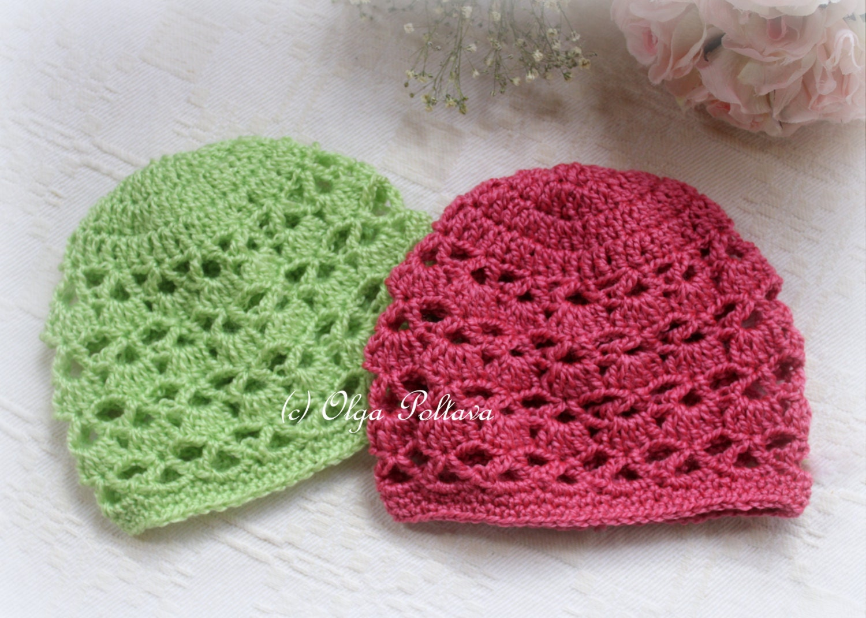 Bright Shells Baby Hat Crochet Pattern Size 0 3 Months Baby Etsy