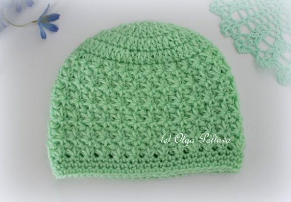 Star Stitch Crochet Baby Hat Beanie Pattern Size 0-3 Months  6111bb425bc