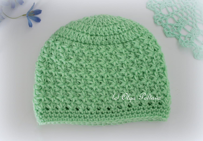 Star Stitch Crochet Baby Hat Beanie Pattern Size 0 3 Months Etsy
