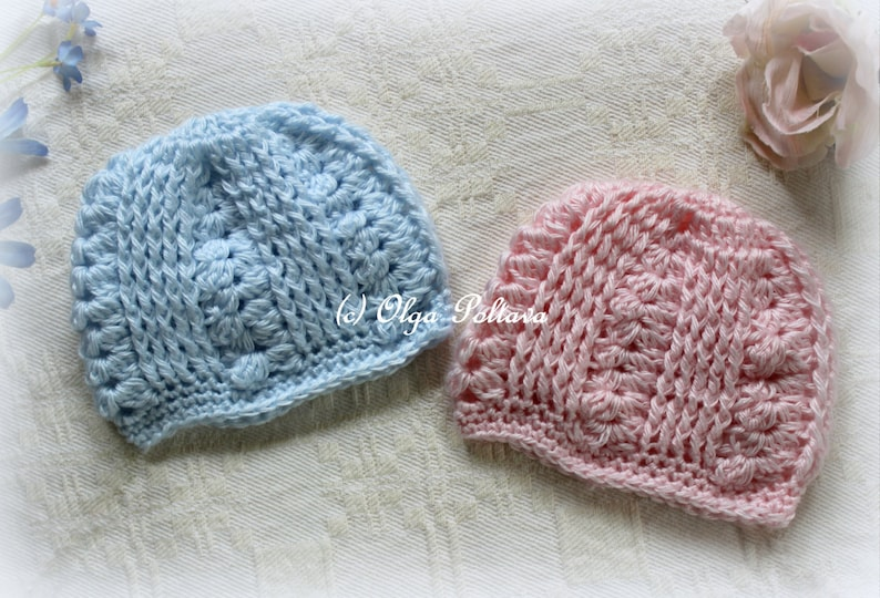 28d90fb702dc4 Premature Baby Hat Crochet Pattern, Easy Crochet Pattern, Preemie Baby Hat,  Baby Boys and Baby Girls, Instant PDF Download