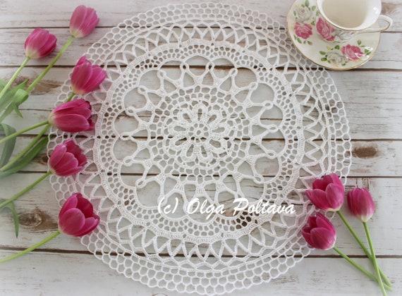 Crochet Doily Pattern Valentina Doily Crochet Lace Round Etsy