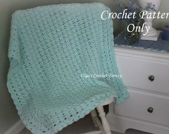 Shells and Chains Baby Blanket, Easy Crochet Pattern, Begginer Level, Instant Download