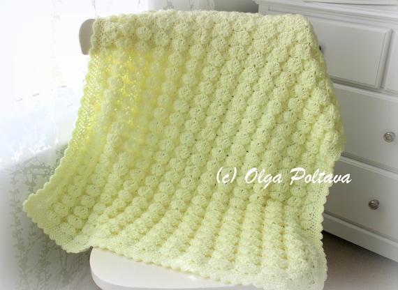 Marshmallow Baby Blanket Crochet Pattern Baby Afghan Pattern Etsy