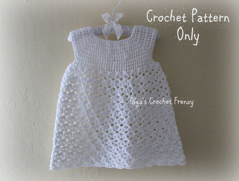 1bfd5d10c492 Summer Dress Crochet Pattern Size 3-6 Months Baby Lace | Etsy