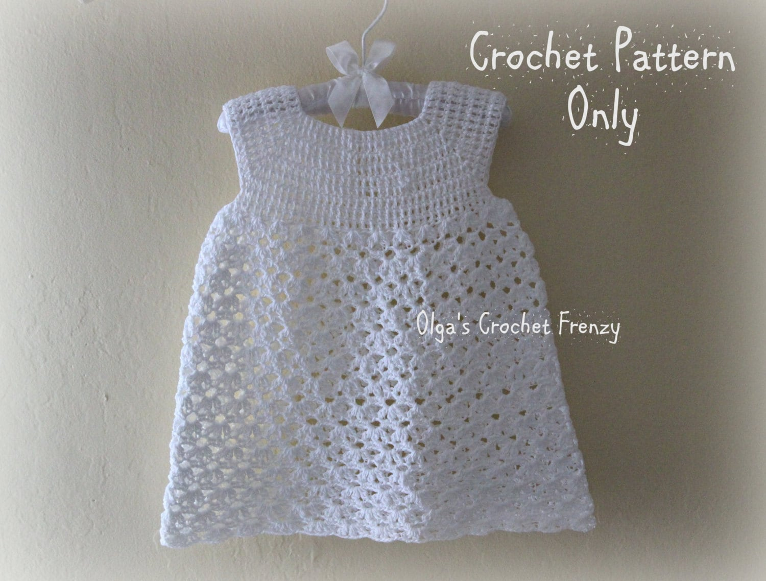 Summer Dress Crochet Pattern Size 3 6 Months Baby Lace Etsy