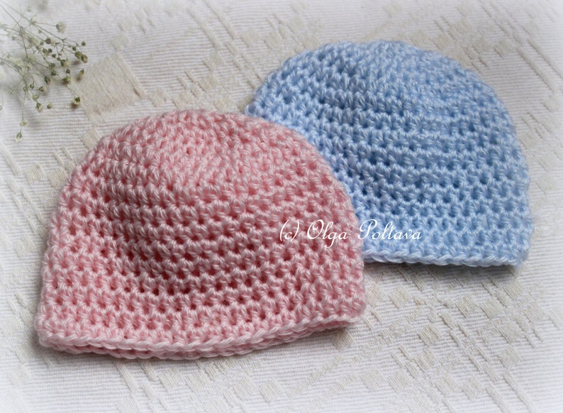 2d10a0d89d8aa Preemie Baby Cap, Premature Baby Hat Crochet Pattern, Easy Skill Level,  Instant PDF Download