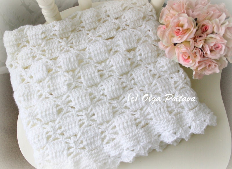 White Lace Spiders Baby Blanket Crochet Pattern Baby Afghan | Etsy