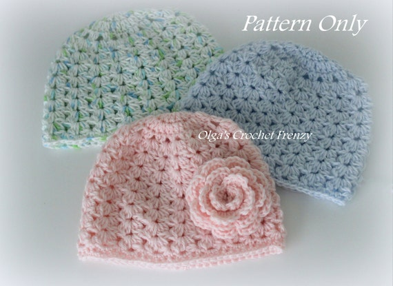 Crochet Baby Hat Pattern Size 3 6 Months Very Detailed Etsy
