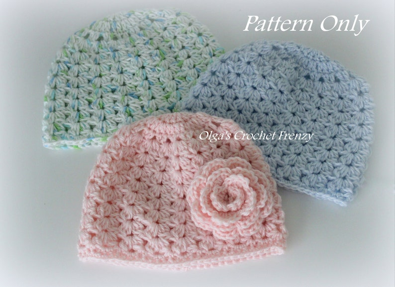 1fa257e52b4 Crochet Baby Hat Pattern Size 3 6 Months Very Detailed