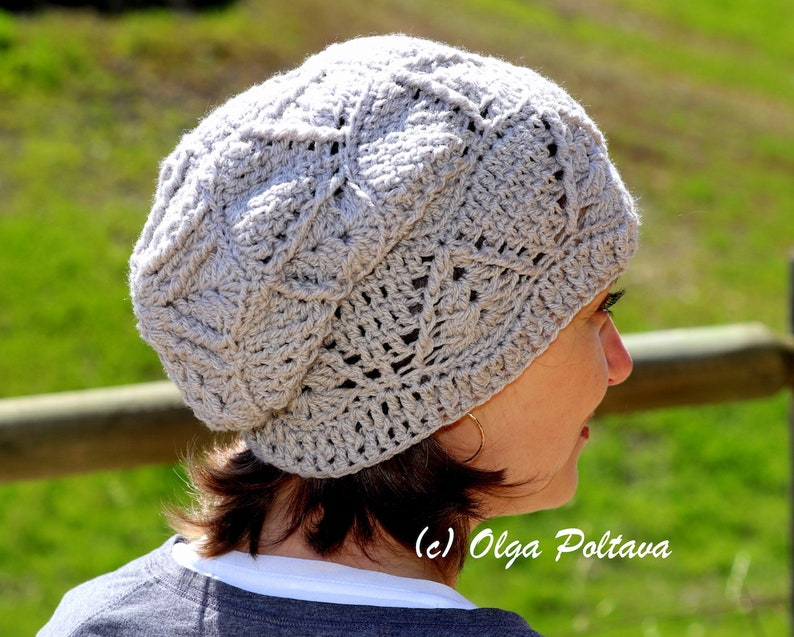 90f4819b776 Textured Slouchy Hat Crochet Pattern Women s Slouch Hat