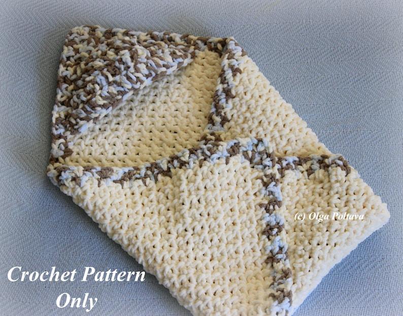 Hooded Baby Blanket Crochet Pattern Easy To Make Bernat Baby Etsy