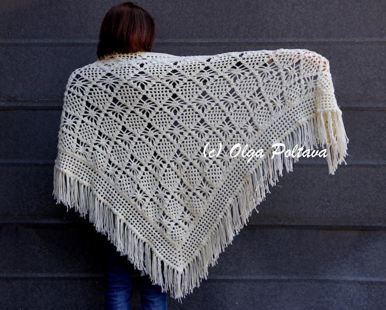 Spider Stitch Lace Shawl Crochet Pattern Prayer Shawl Crochet Etsy