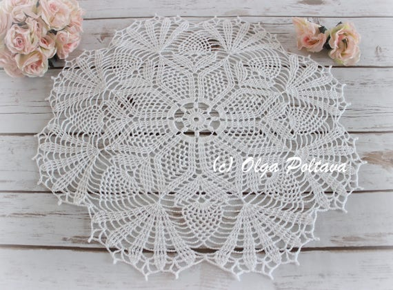 Pineapple Bouquet Doily Pattern Crochet Doily Pattern With Etsy
