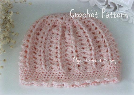 Pink Baby Hat Crochet Pattern Beginner Skill Level Size 3 6