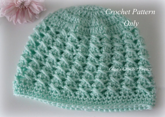 Crossed Dcs Baby Hat Crochet Pattern Size 3 6 Months Easy To Etsy