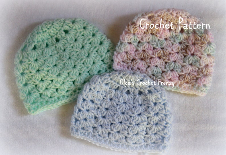 Preemie Baby Hat Crochet Pattern Baby Girls And Baby Boys Etsy