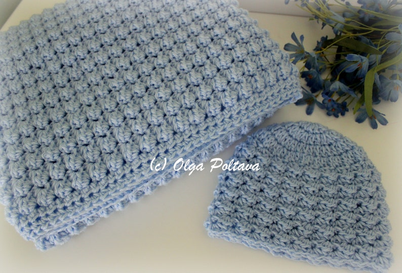 0ecdcd78d Baby Boy Set Crochet Pattern Baby Blanket and Hat Easy