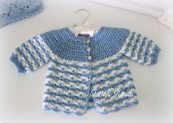 Newborn Baby Sweater Crochet Pattern Crochet Baby Jacket Size Etsy