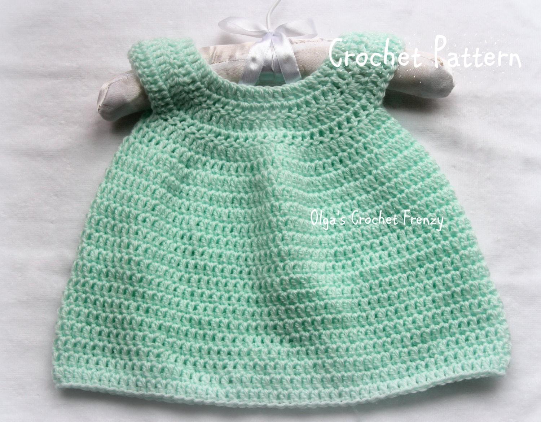 Crochet Pattern For Baby Dress Size Preemie Beginner Crochet Etsy