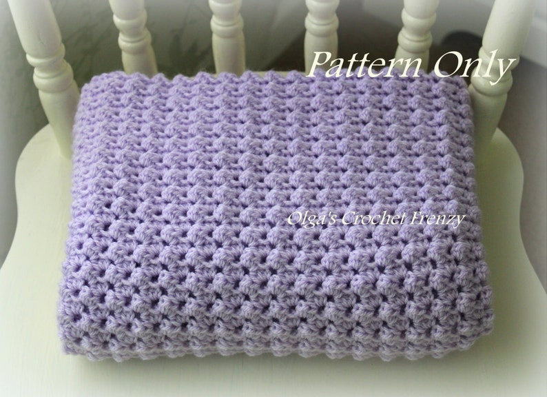 Crochet Baby Blanket Pattern Baby Afghan Easy to Make For image 0