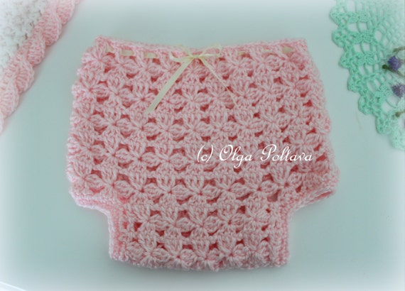 Flower Clusters Diaper Cover Crochet Pattern Baby Diaper
