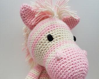 Pink Zebra Toy Etsy