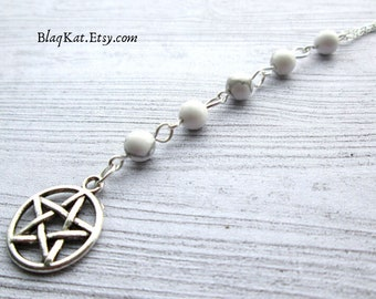 Amethyst birthday necklace, Pagan jewelry Pagan Necklace Wiccan Necklace Wiccan Jewelry February Birthstone necklace Witch jewellery