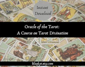 A Course on Tarot Divination, Tarot Card Course, How to Read Tarot, Divination Course Book, Instant Download Tarot eBook, Vintage ebook
