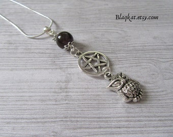 Athena Necklace, Goddess necklace, Greek Mythology jewelry, Goddess Athena jewelry, Goddess of Wisdom necklace, pentacle necklace, pentagram