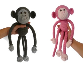 Mike the Monkey - Amigurumi Crochet pdf Pattern (EN, DK & NL)