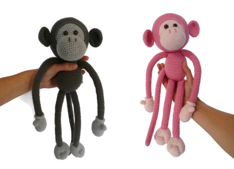 Mike the Monkey  Amigurumi Crochet pdf Pattern EN DK & NL image 0