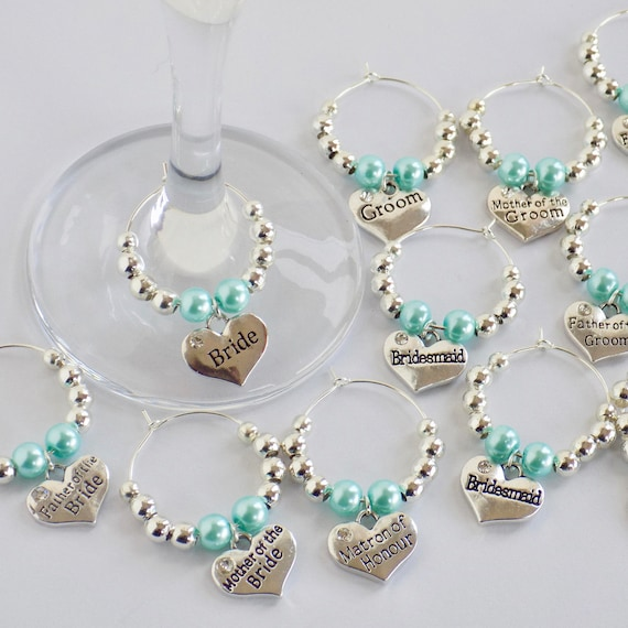 20 x wedding heart charms silver plated favours bridesmaid.UK SELLER