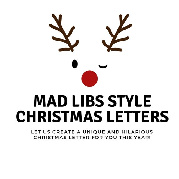 Hilarious Christmas Letters.Mad Libs Christmas Letter Customized Christmas Card