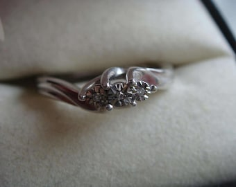 Diamond and Silver Ring