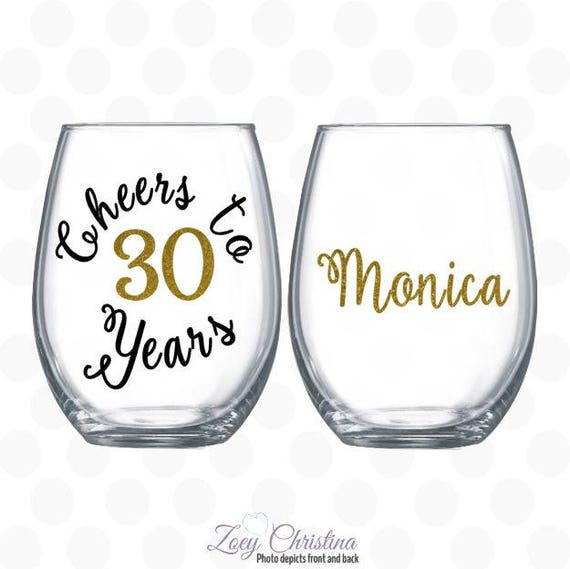 Cheers To 30 Years 30th Birthday Gift For Women Gift For 30