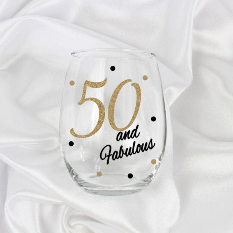 Milestone Birthday Gift 50th 50 And Fabulous Wine