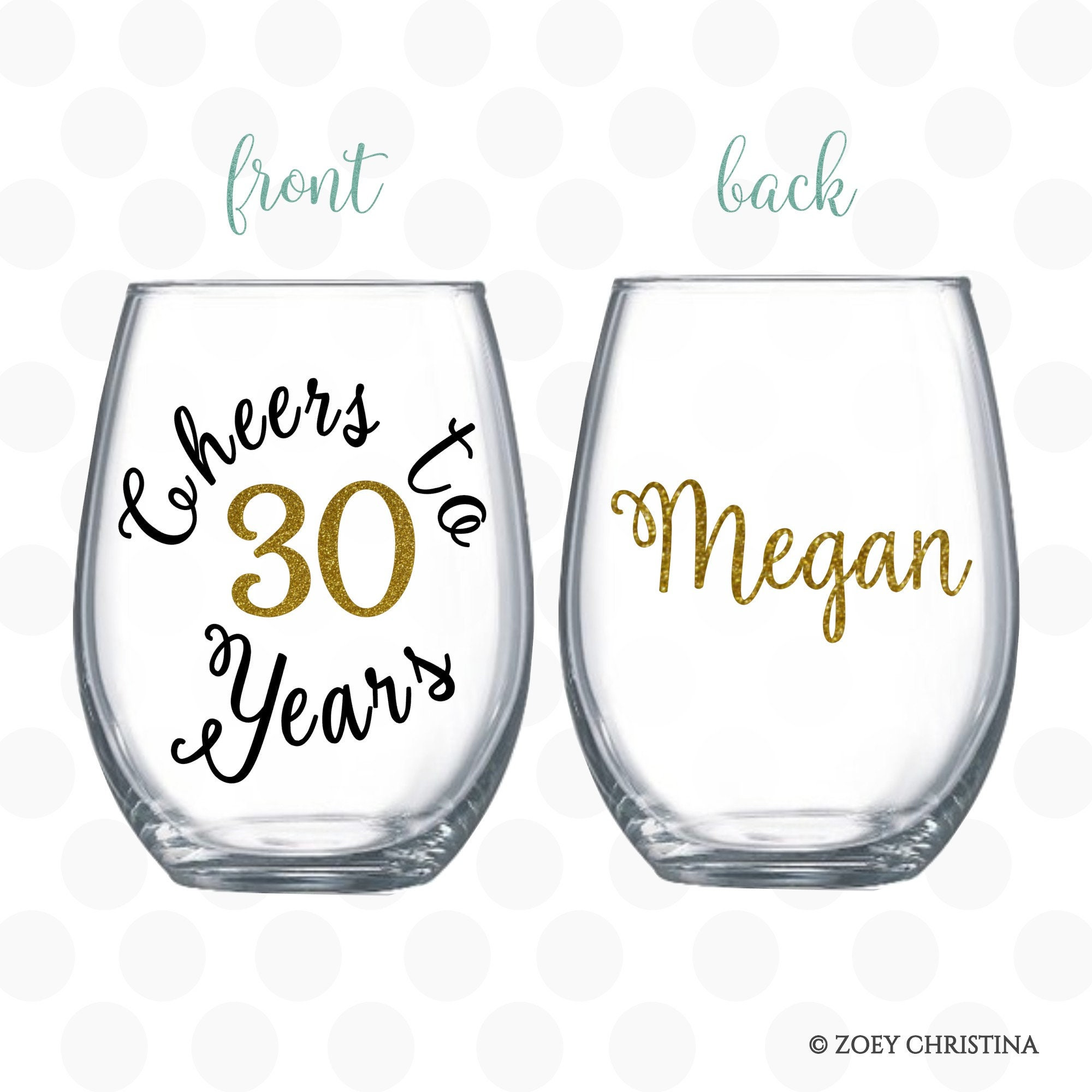 Cheers To 30 Years 30th Birthday Gift For Women Gift For