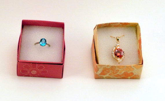 40 Small Jewelry Boxes With Foam Insert Gift Box Origami